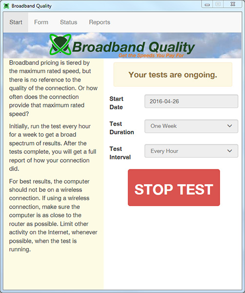 Broadband Quality Screenshot 1