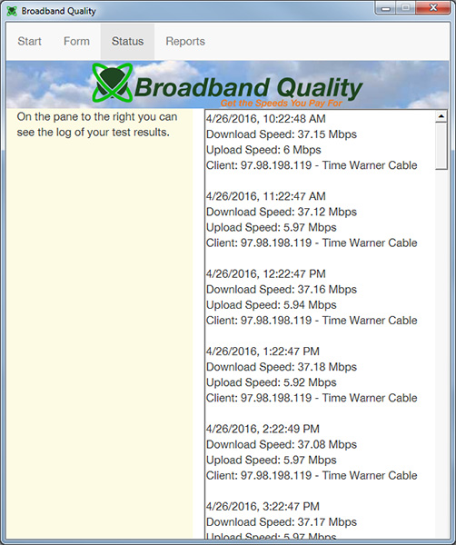 Broadband Quality Screenshot 3