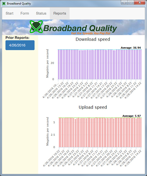 Broadband Quality Screenshot 4